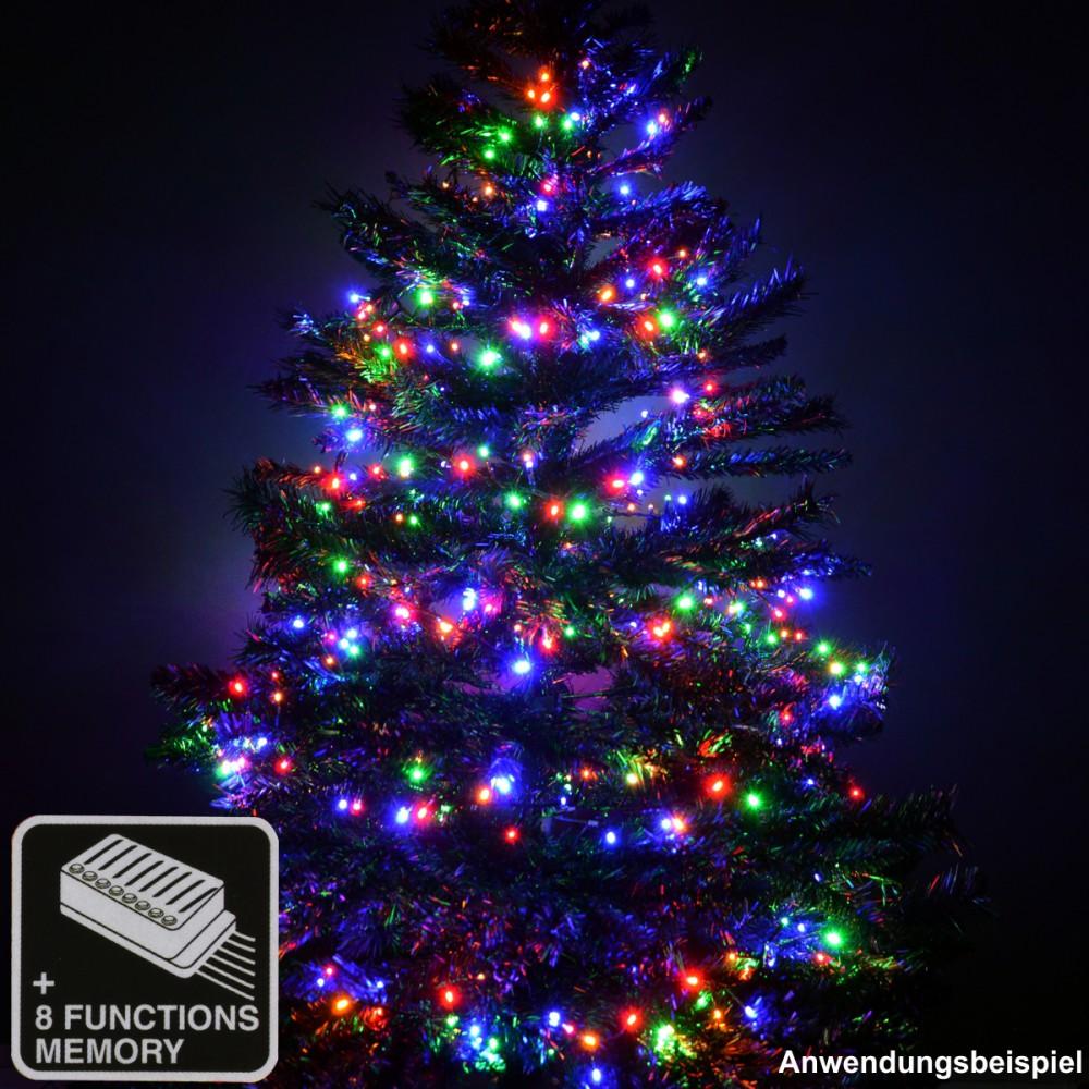 led lichterkette weihnachtsbaum 1 5 3 m 400 1200 led bunt. Black Bedroom Furniture Sets. Home Design Ideas