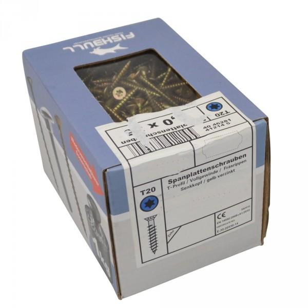 Spanplattenschraube T-Profil 1 kg Fishbull-Pack Vollgewinde