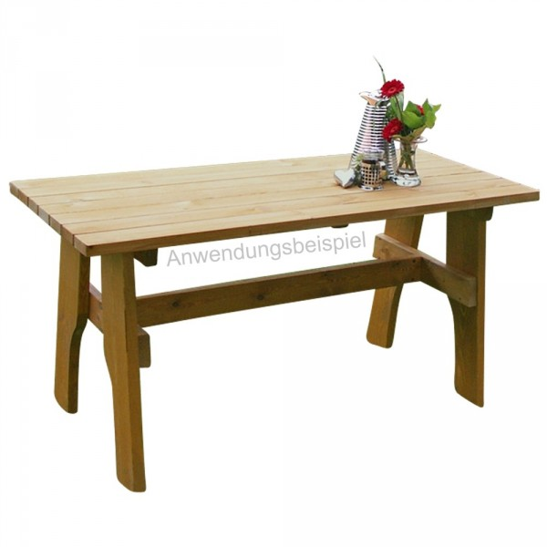 Gartentisch Freital 200x70cm Holz Kiefer Massiv hellbraun imprägniert