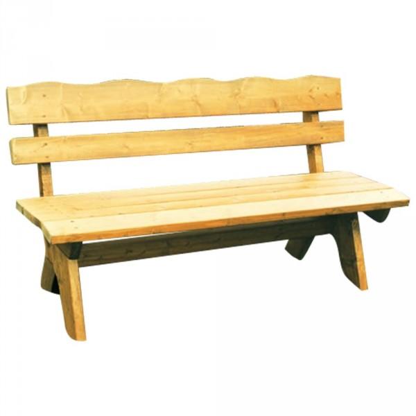 Gartenbank 3-Sitzer 150x60x82cm Freital Holz Kiefer Massiv hellbraun imprägniert
