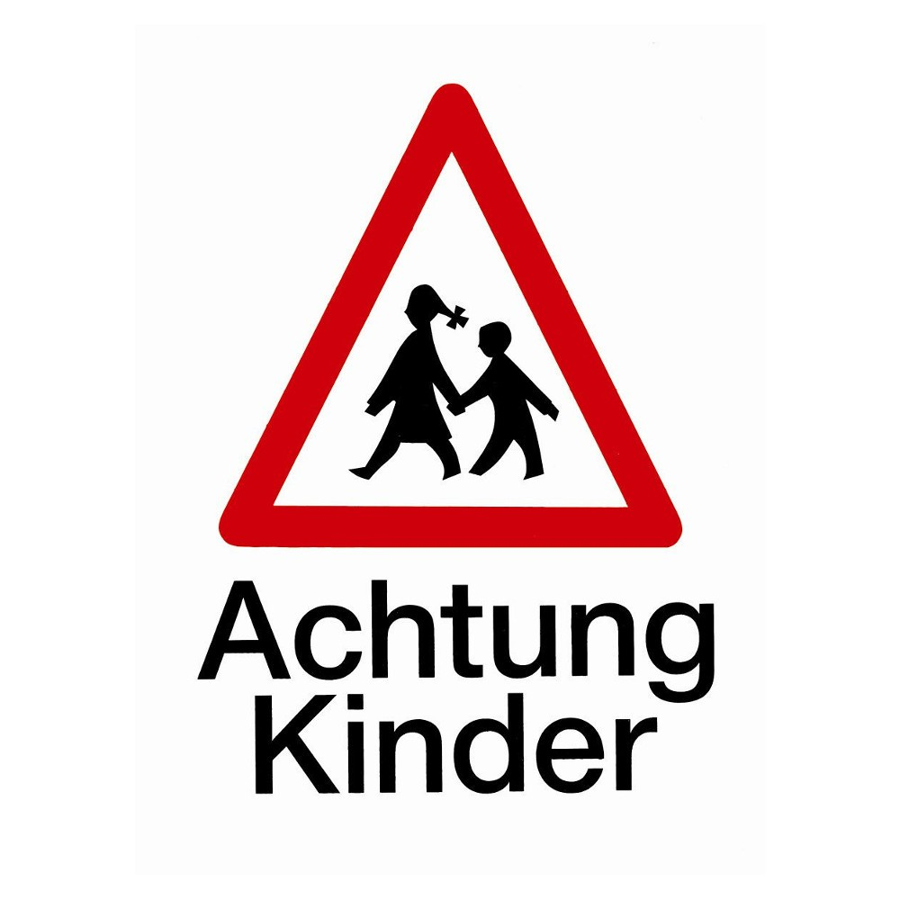 schild 194x260mm achtung kinder sonderpreis baumarkt. Black Bedroom Furniture Sets. Home Design Ideas
