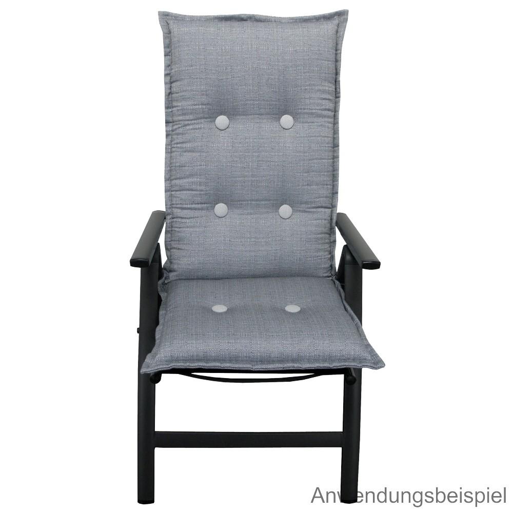 auflage hochlehner 119x50x9cm baltimore grau sitzkissen sonderpreis baumarkt. Black Bedroom Furniture Sets. Home Design Ideas