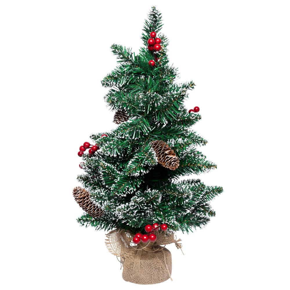 weihnachtsbaum 65 cm k nstlich mit jutesack und dekoration. Black Bedroom Furniture Sets. Home Design Ideas