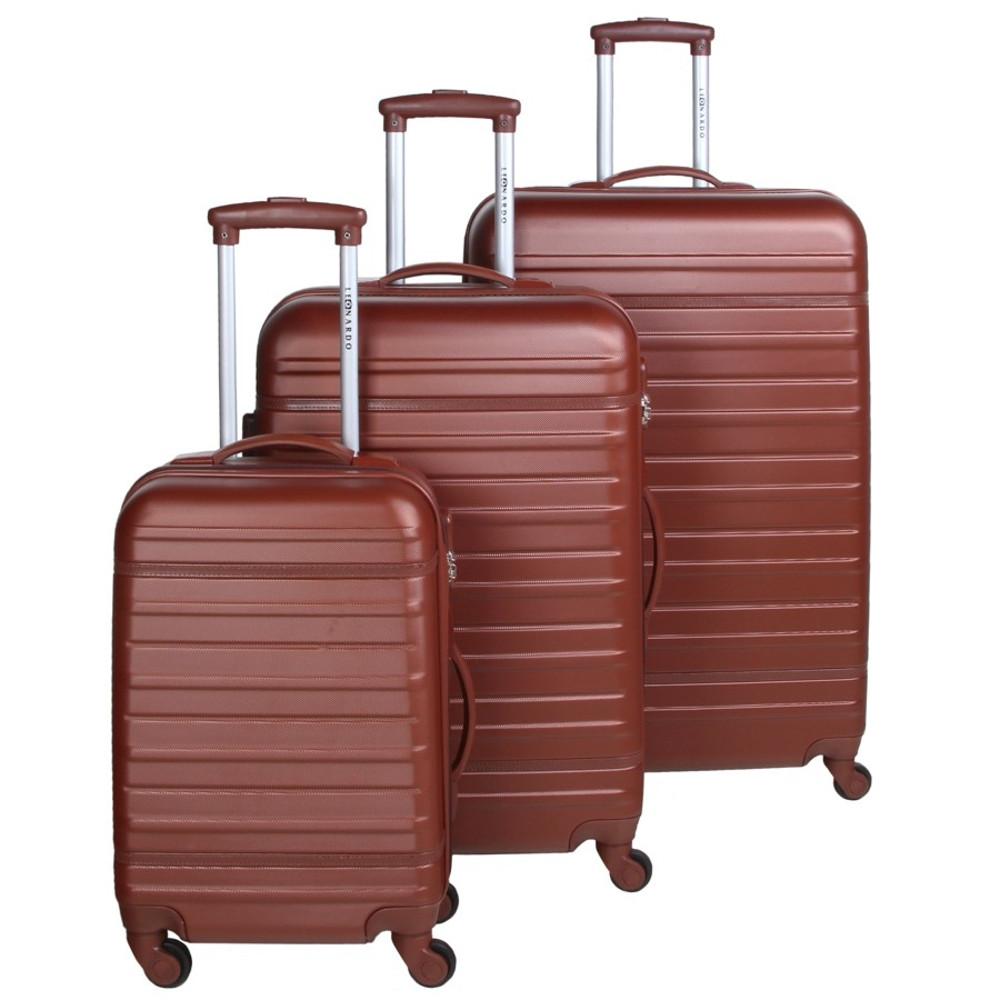 Trolleyset 3tlg braun abs hartschale kofferset reisetrolley reisekoffer set sonderpreis baumarkt - Pool hartschale ...