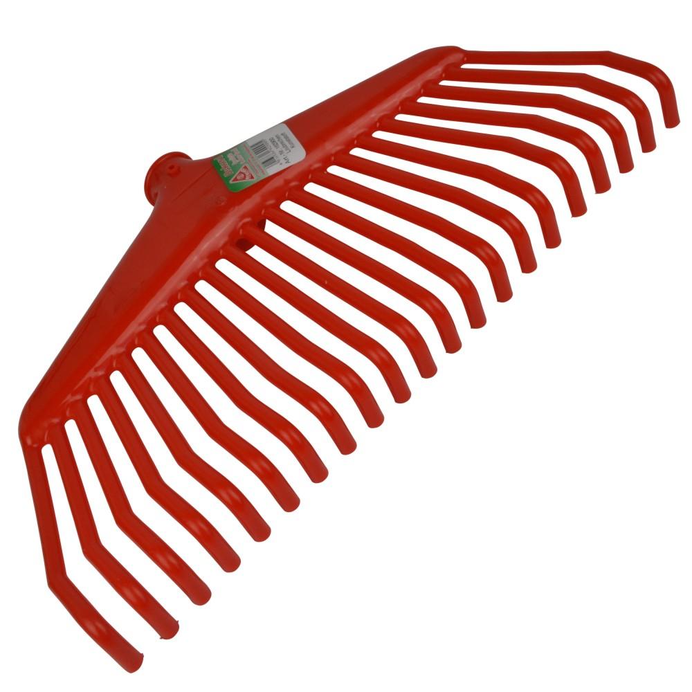 laubrechen 21zinken 38cm rot kunststoff b gel rechen. Black Bedroom Furniture Sets. Home Design Ideas