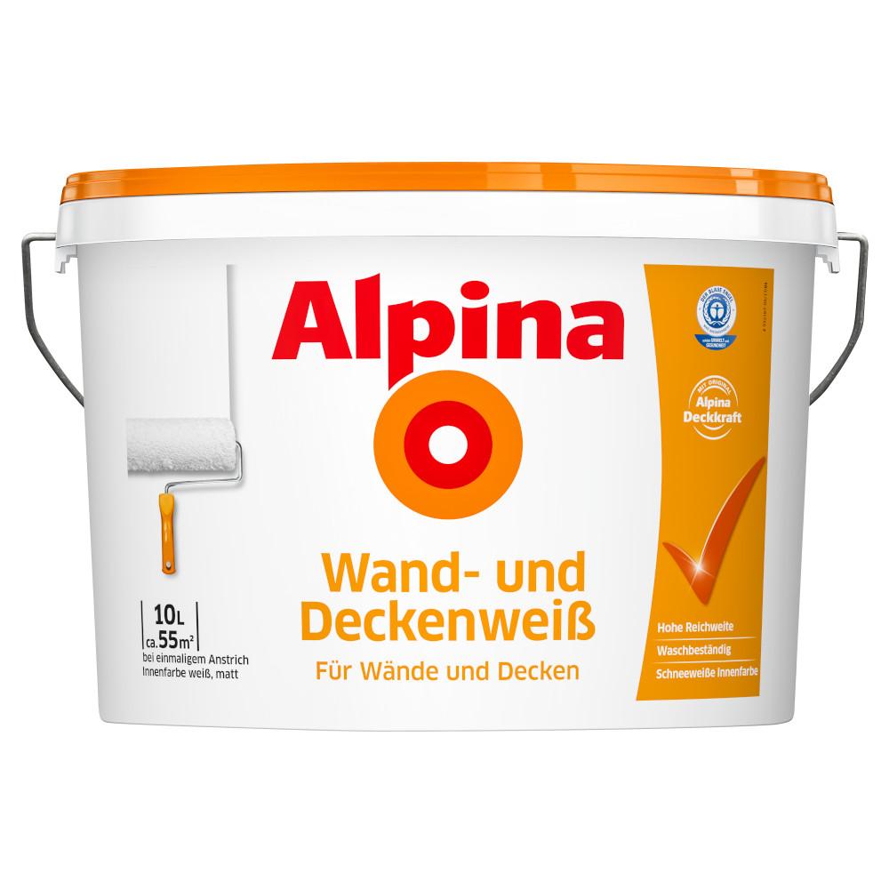 Alpina Wandfarbe weiß 10 Liter Wand- und Deckenweiß