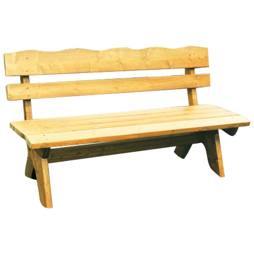 Gartenbank 3 Sitzer 150x60x82cm Freital Holz Kiefer Massiv Hellbraun  Imprägniert | Sonderpreis Baumarkt