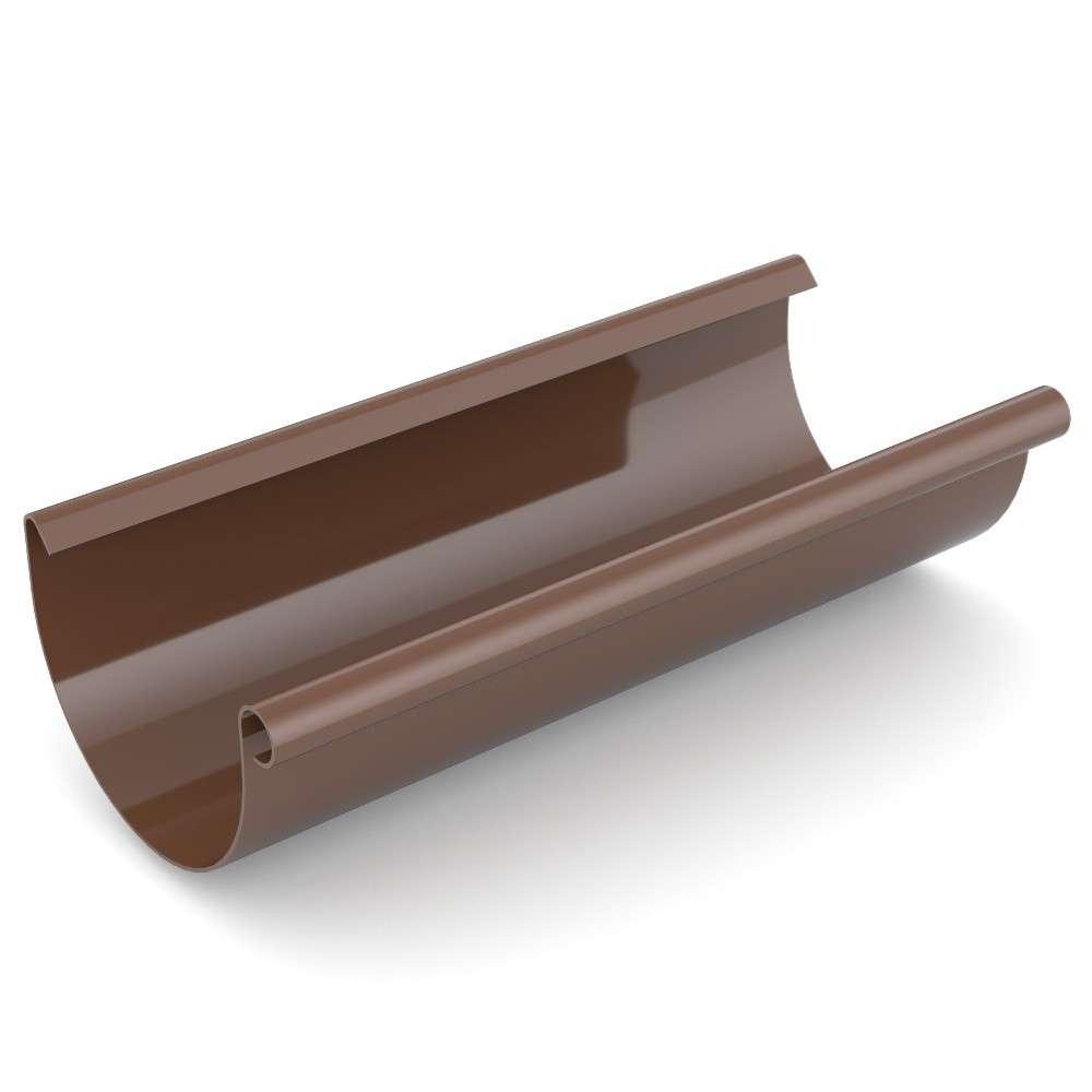 dachrinne pvc 100 mm mit 2 m länge braun aus kunststoff