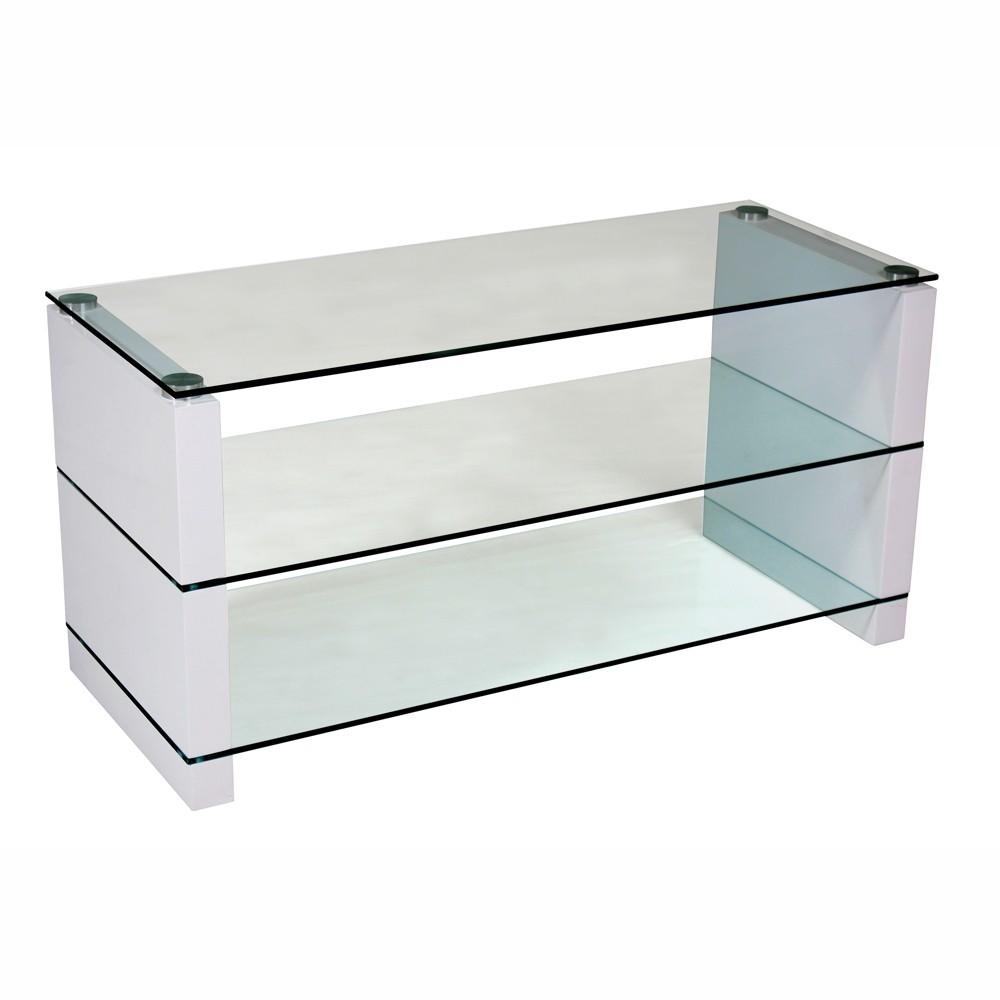 tv tisch berlin 100x40x50cm glas wei sonderpreis baumarkt. Black Bedroom Furniture Sets. Home Design Ideas