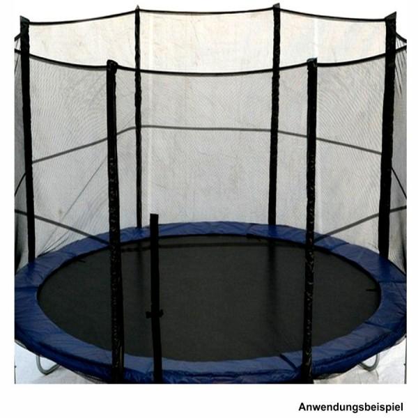 trampolin sicherheitsnetz 8stangen 4m 13ft schwarz. Black Bedroom Furniture Sets. Home Design Ideas