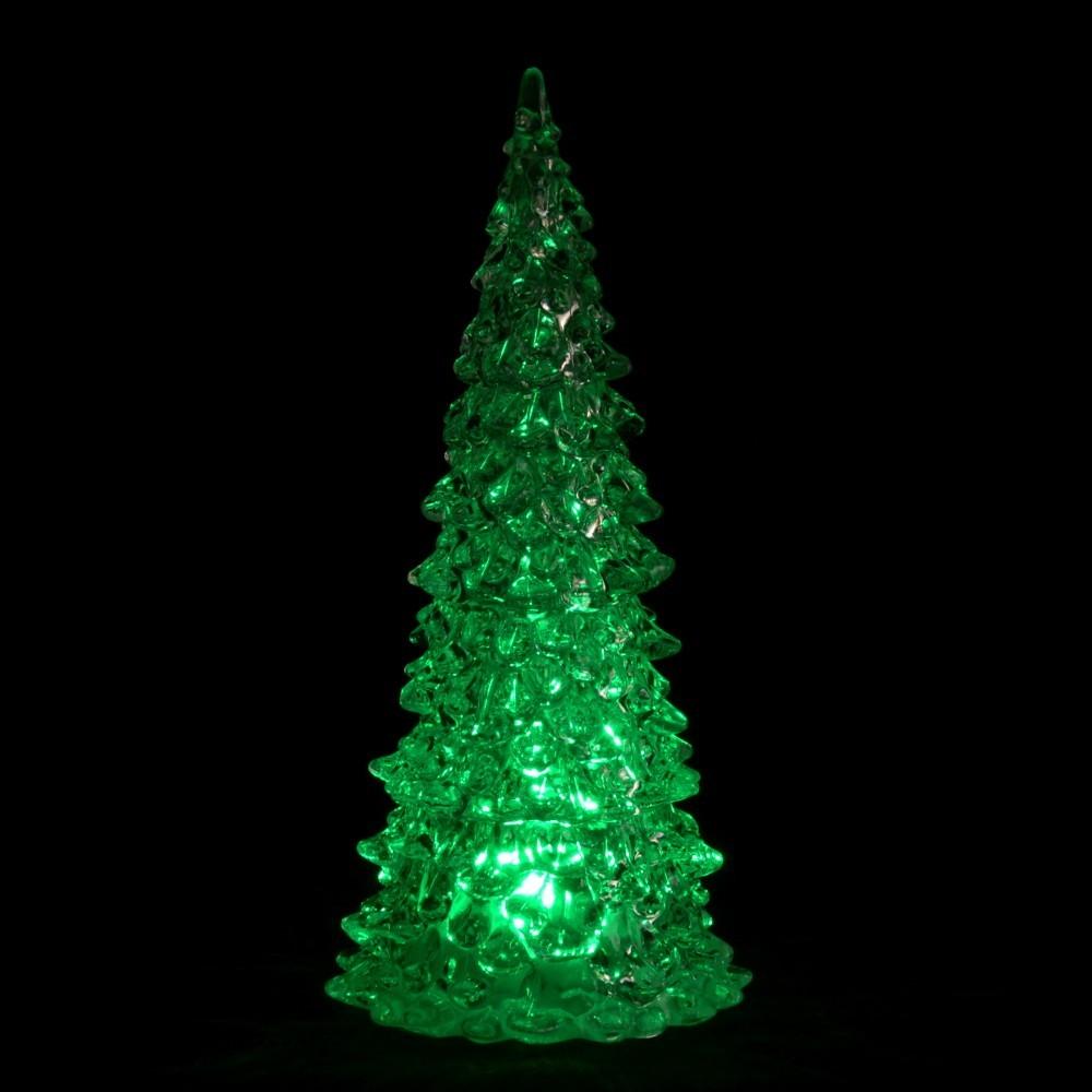 Baumarkt Tannenbaum.Tannenbaum 23cm Led Farbwechsel Glasklar Kunststoff