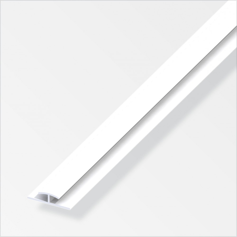 Einfassprofil zweiseitig 8 x 8 x 8 mm aus Hart PVC in weiß