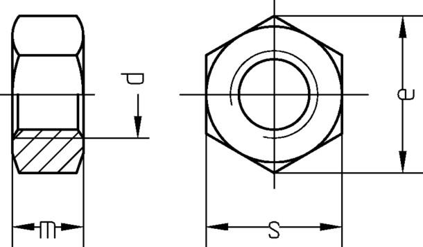 Sechskantmutter M16 DIN 934 Kl.8 A2 Edelstahl