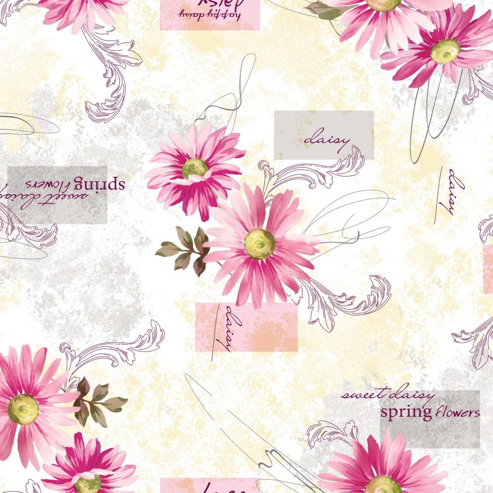 wachstuch tischdecke abwaschbar gr e w hlbar gerbera pink breite 140cm sonderpreis baumarkt. Black Bedroom Furniture Sets. Home Design Ideas