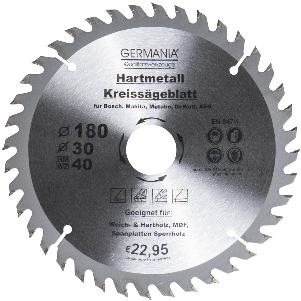 HM Kreissägeblatt Ø 140 x 20 16 mm 40 Zähne Sägeblatt für Hartholz Spannplatte