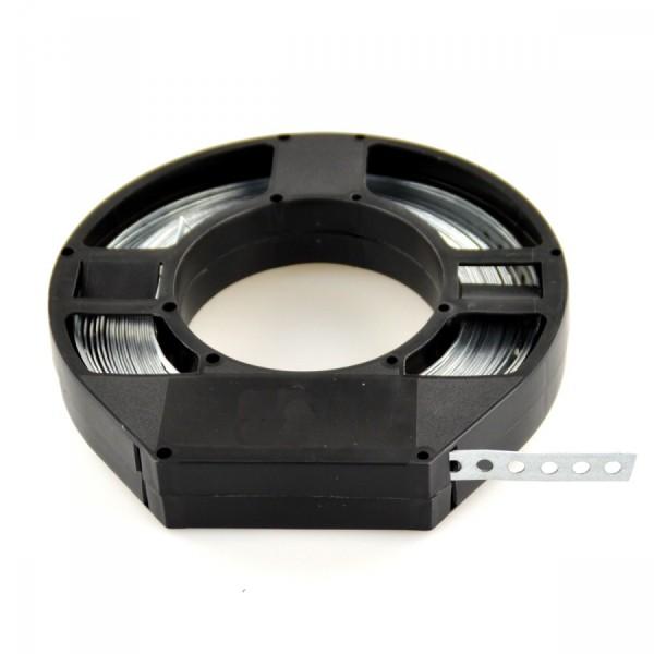 Lochband 10m 12x0,75mm Stahl verzinkt Abrollbox Montageband Montagelochband
