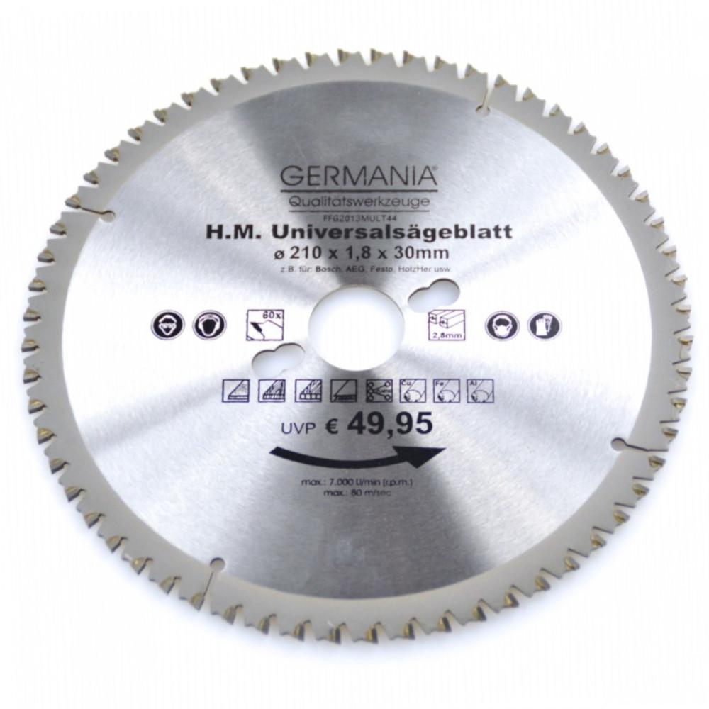 Ø 210 mm x 2,0 mm x 30 mmZ=48 WWF HM Multifunktions-Kreissägeblatt