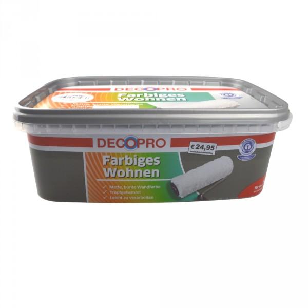 wandfarbe 2 5 liter ca 20 m schiefer matt innenfarbe tropfgehemmt decopro sonderpreis baumarkt. Black Bedroom Furniture Sets. Home Design Ideas
