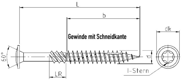 Holzbauschraube 8,0x180mm TX Tellerkopf Teilgewinde galv. verzinkt Konstruktionsschraube