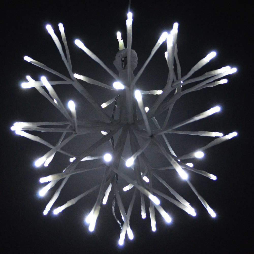 led weihnachtsstern 35cm 64led kaltwei innen au en leuchtstern sonderpreis baumarkt. Black Bedroom Furniture Sets. Home Design Ideas