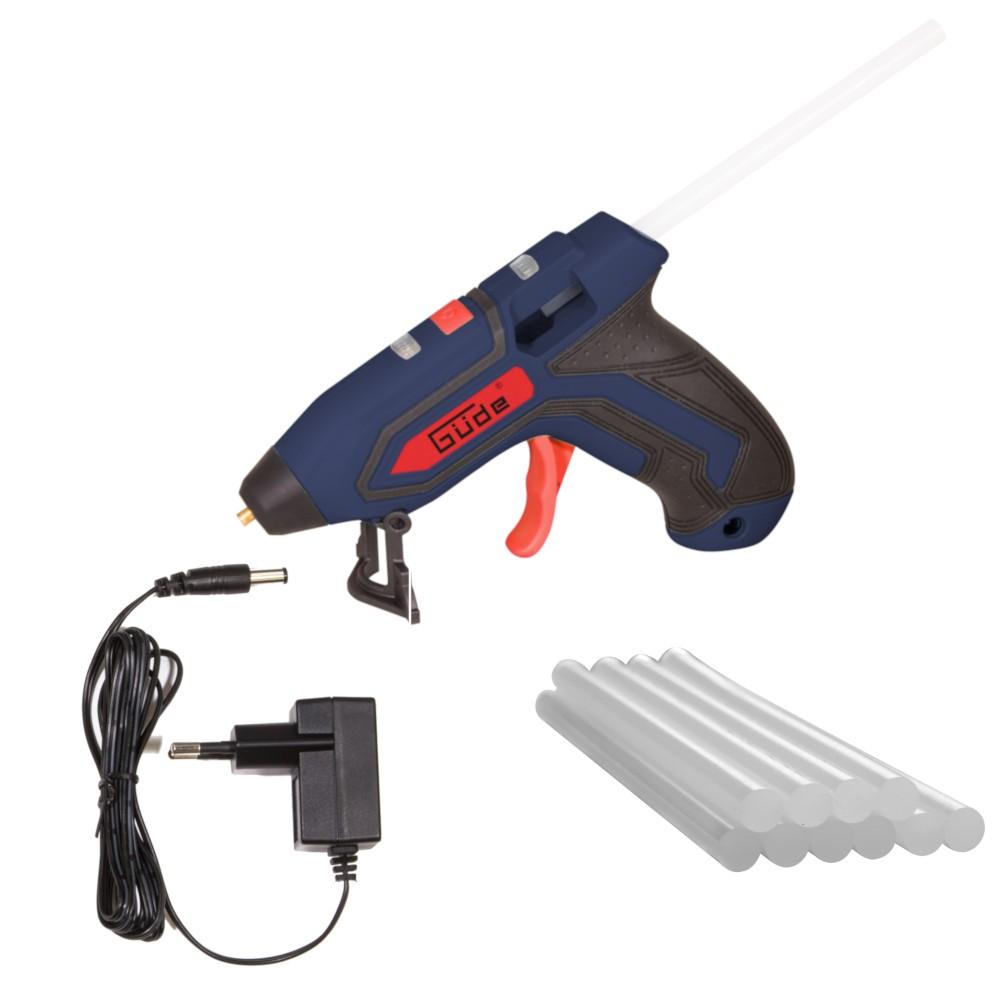 güde akku-heißklebepistole mit 10 klebestiften | sonderpreis baumarkt
