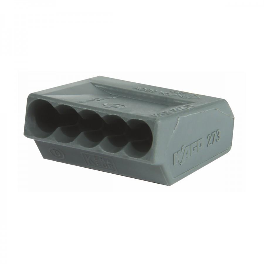 Wago Klemmen 25 Stück in grau mit 5 Steckplätzen | Sonderpreis Baumarkt