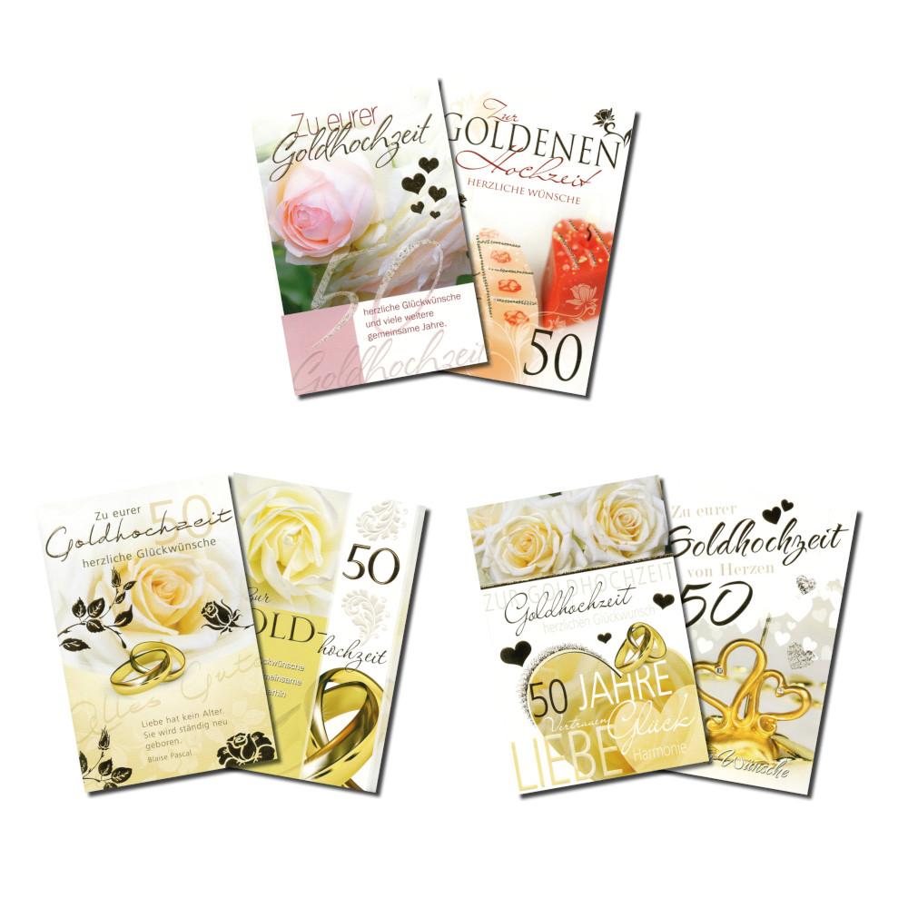 Grußkarte Goldene Hochzeit In Verschiedenen Ausführungen