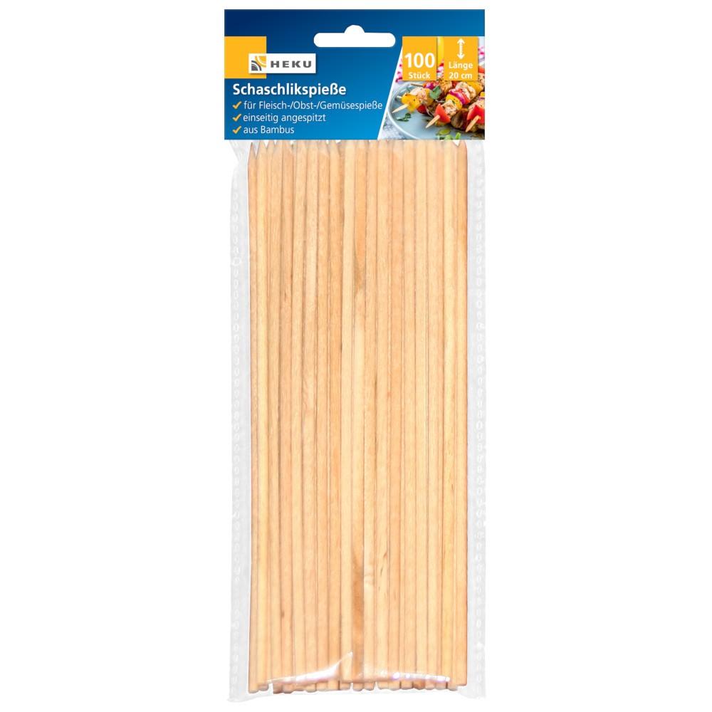 schaschlikspieße 20cm 100 stück bambus | sonderpreis baumarkt