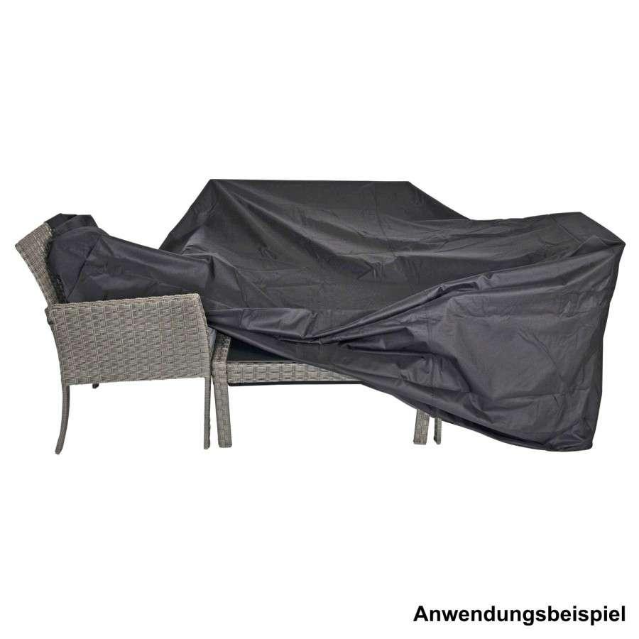 Schutzhülle 215x170x100cm schwarz Polyester 300D Stoff für lange ...