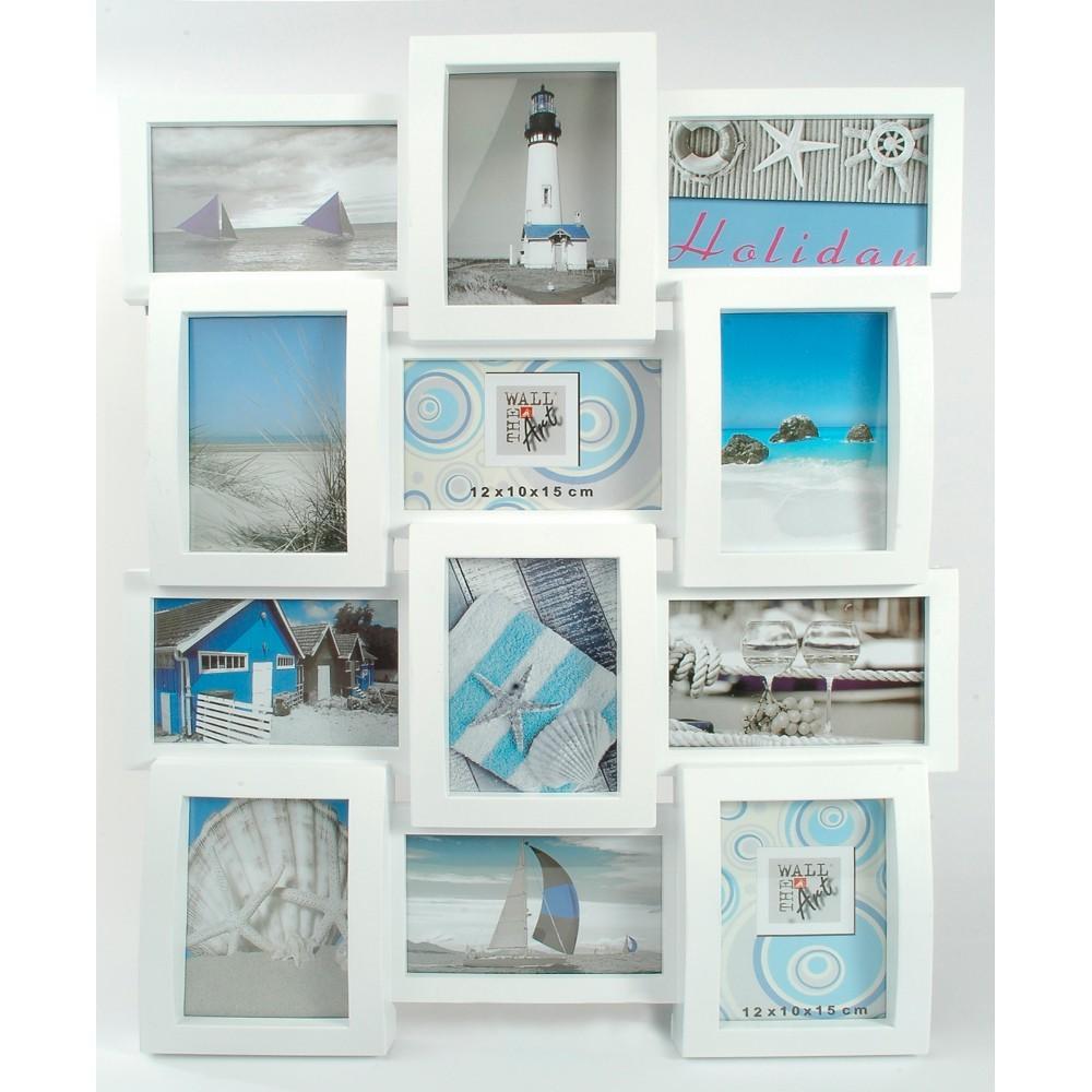 The Wall Kunststoff Bilderrahmen Multi Collage white 12x10x15cm weiß ...