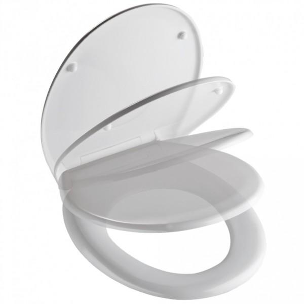wc sitz duroplast absenkautomatik schnellverschluss wei inkl befestigung sonderpreis baumarkt. Black Bedroom Furniture Sets. Home Design Ideas