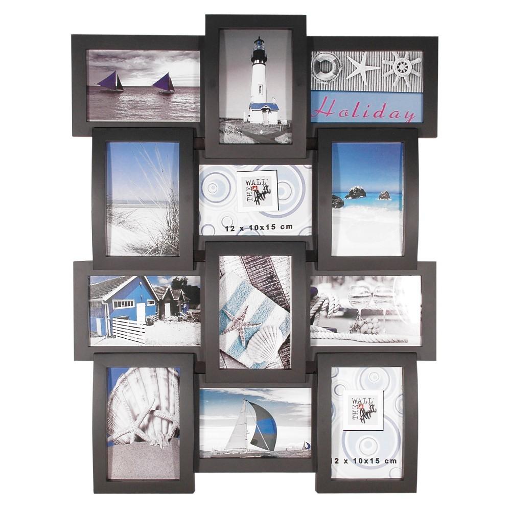the wall kunststoff bilderrahmen multi collage black 12x10x15cm