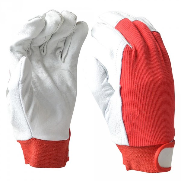 "Handschuhe Gr. L 9"" Leder Baumwolle"
