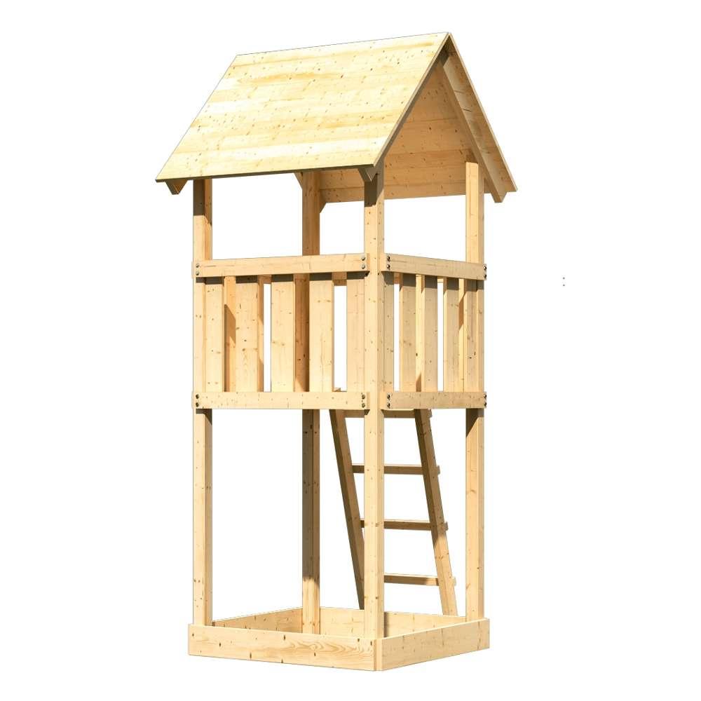 Karibu Kinderspielturm Lotti mit Satteldach und Sandkiste ...
