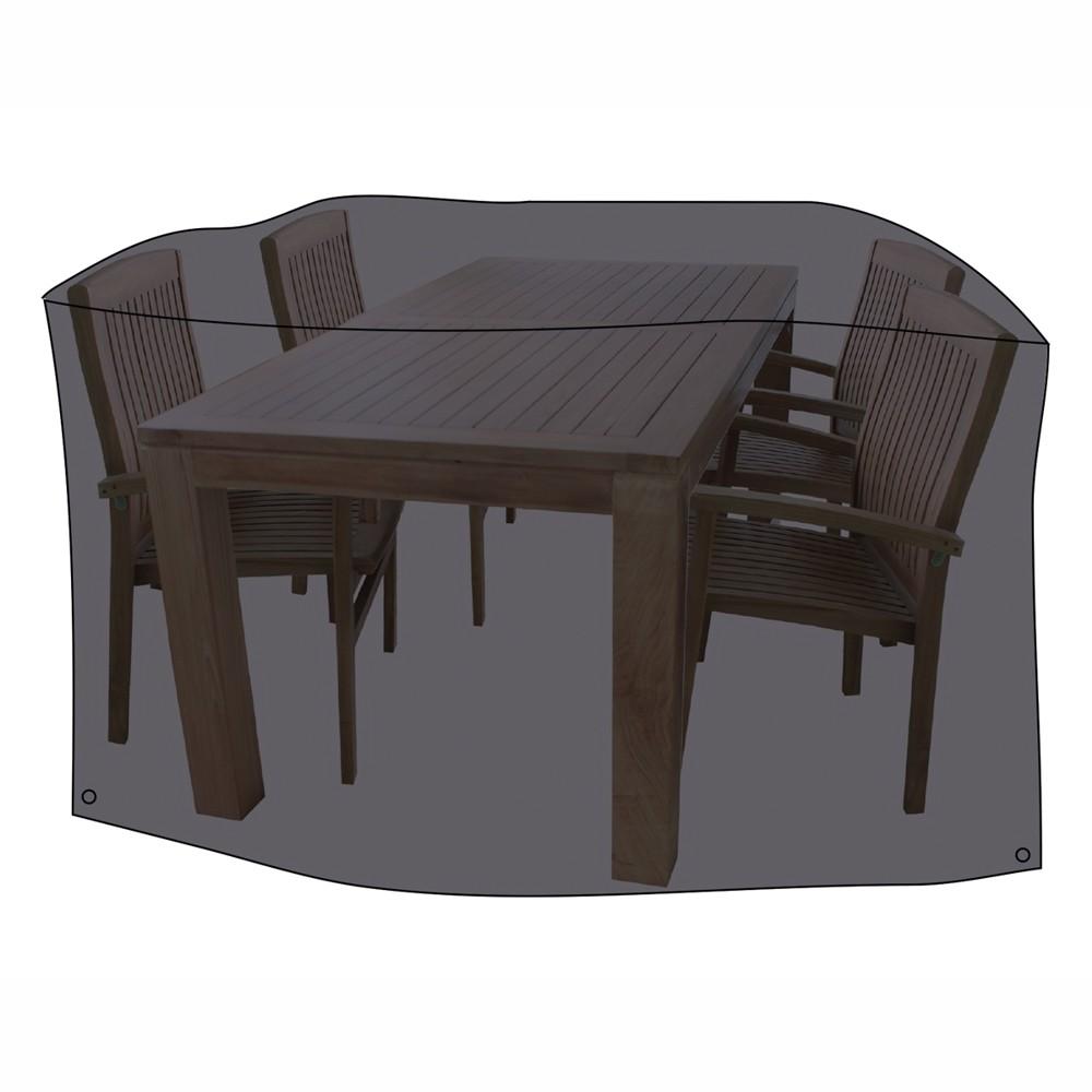 schutzh lle f r sitzgruppe 230x135x70cm polyester anthrazit sonderpreis baumarkt. Black Bedroom Furniture Sets. Home Design Ideas