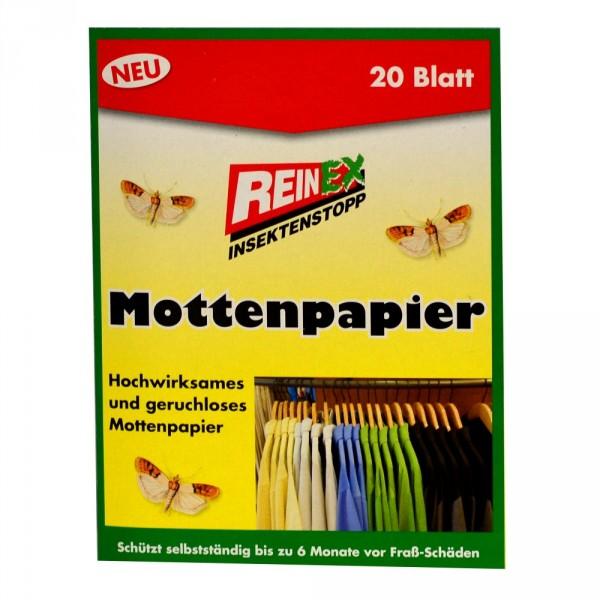 Reinex Kleidermottenpapier 20Blatt Mottenpapier