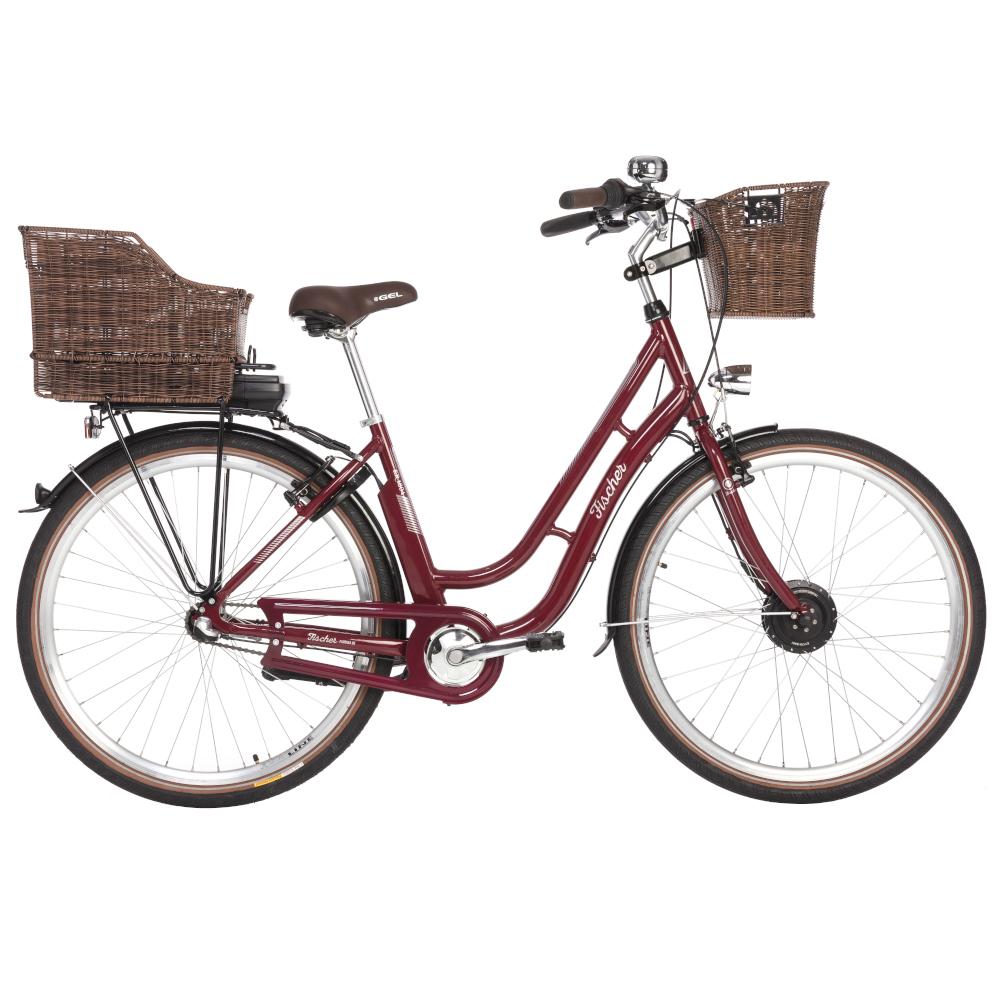 fischer e bike city retro damen 28 er 1804 in bordeauxrot. Black Bedroom Furniture Sets. Home Design Ideas