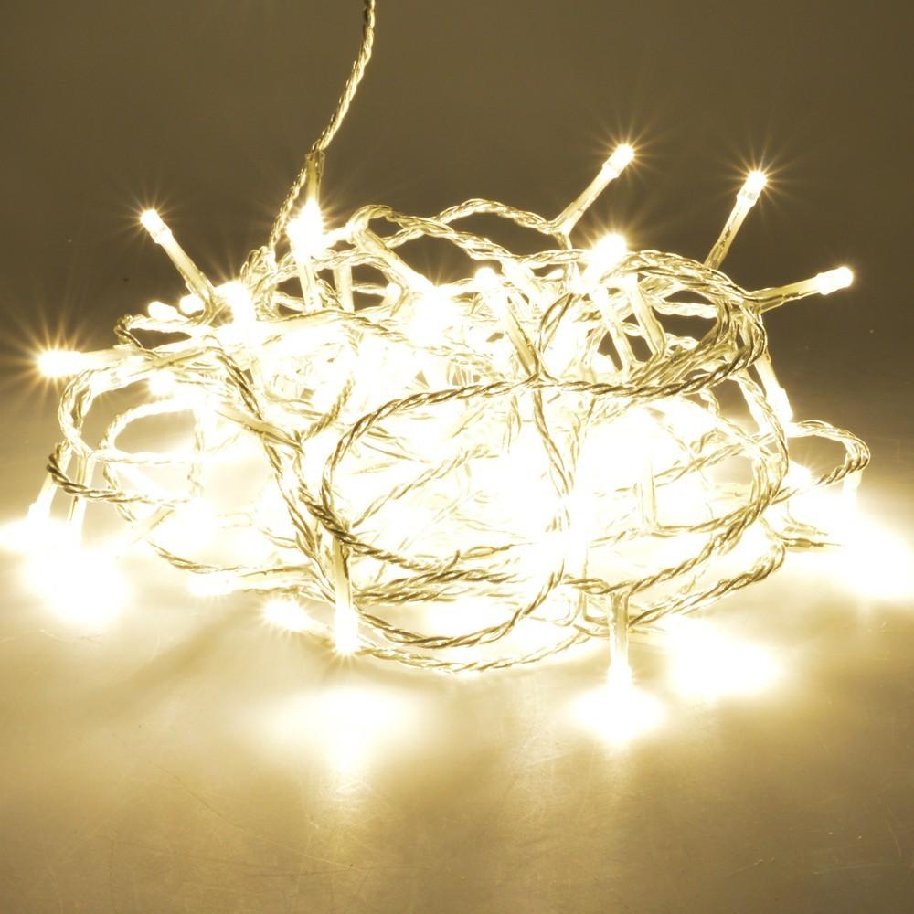 Led Lichterkette 9 24m 120 320led Transparent Warmweiss Innen Aussen