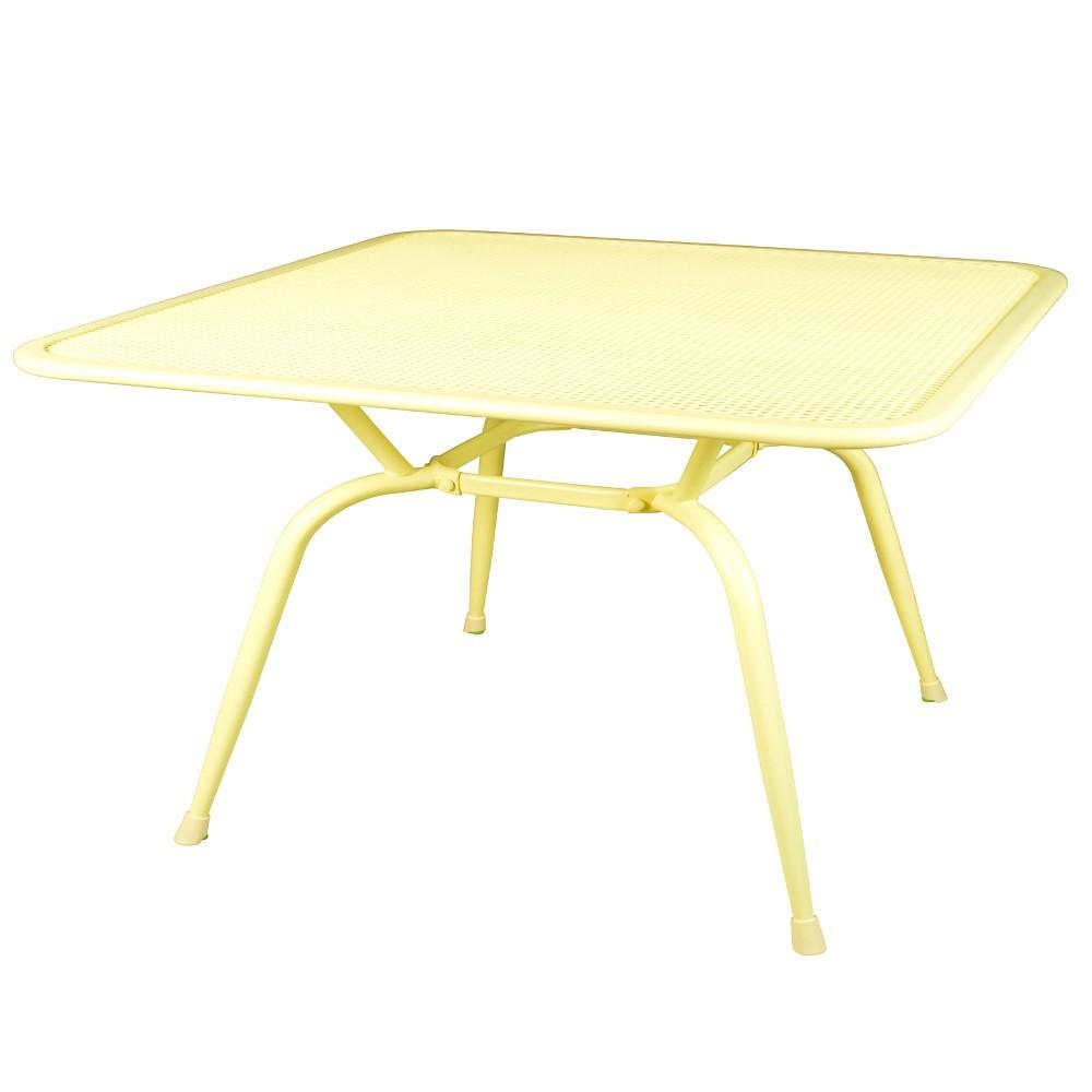 Gartentisch Metall Gelb 160x90x74cm Elotherm Pulverbeschichtung