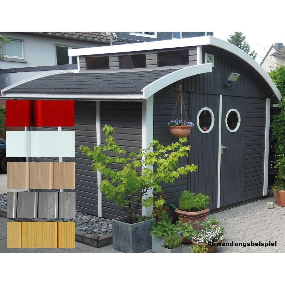 Gartenhaus Bausatz Nautic 300x300 cm Farbauswahl in ausgefallenem