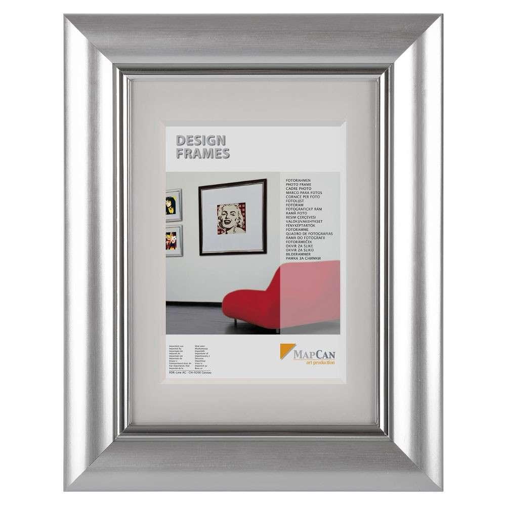The Wall Kunststoff-Fotorahmen Elegance 13x18cm silber Normalglas ...