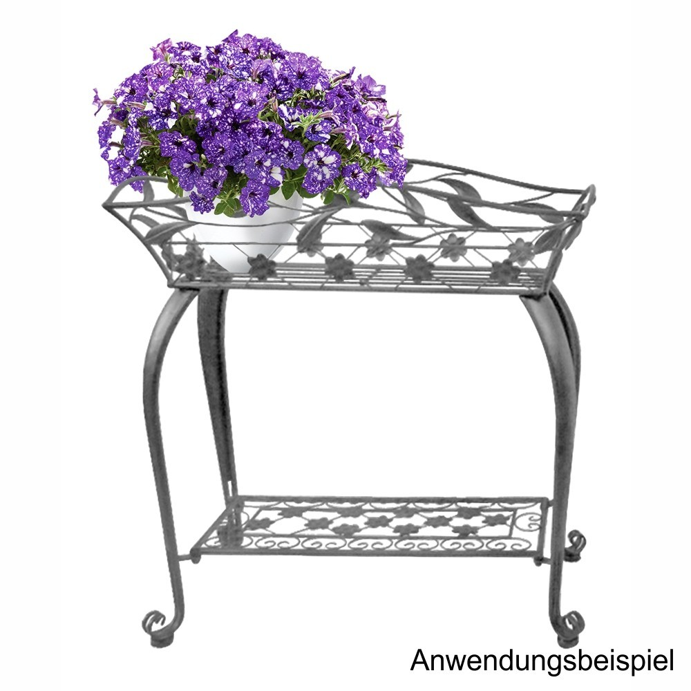 pflanzenst nder s 64x28x66cm metall antikgrau sonderpreis baumarkt. Black Bedroom Furniture Sets. Home Design Ideas