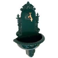 Wandbrunnen Tirol Antik-Look dunkelgrün Aluguss
