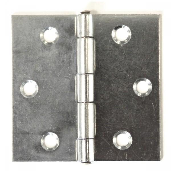 Scharnier 50mm Messingstift verzinkt Türband Türscharnier Schwingtür