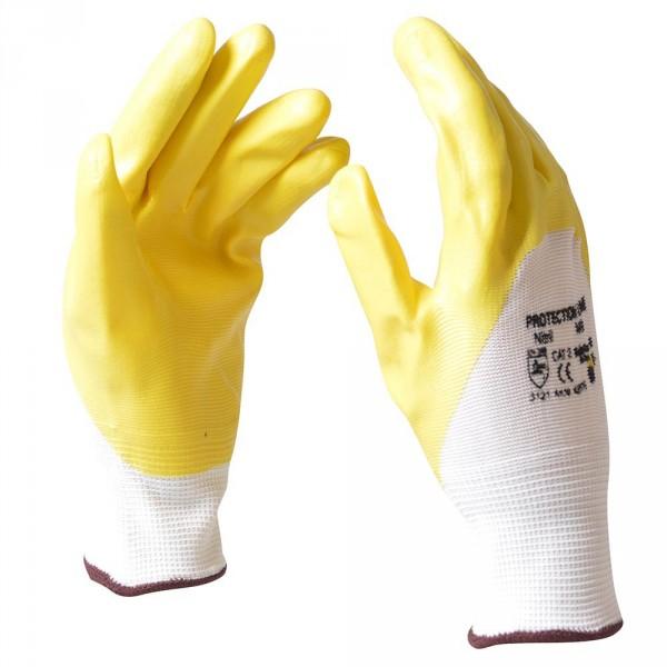 "Handschuhe Gr. M 8"" Nitril gelb"