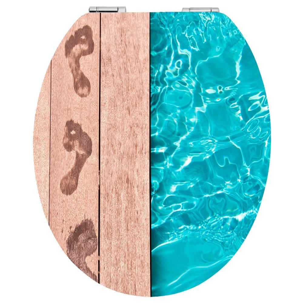 wc sitz acryl absenkautomatik dekor poolside holzkern inkl befestigung sonderpreis baumarkt. Black Bedroom Furniture Sets. Home Design Ideas