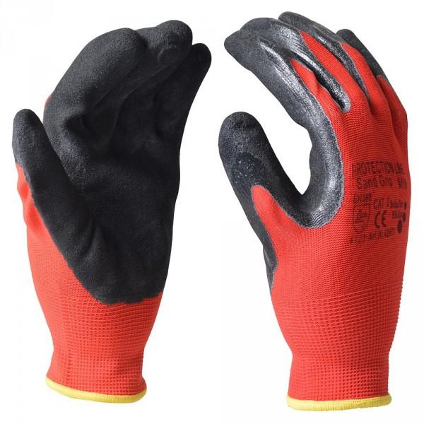 "Handschuhe Gr. L 9"" Nitril Sand Grip"