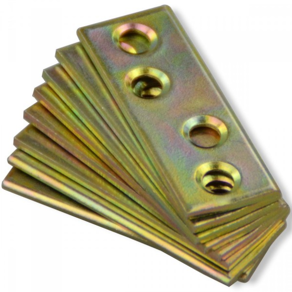 Verbindungsblech 50x15mm 8Stk gelb verzinkt Flachverbinder Lochplatte Lochblech