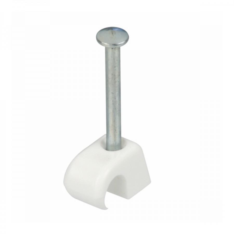 Nagelschellen 4-7mm weiß Kunststoff 50Stk. Kabelschellen Nagelclip ...