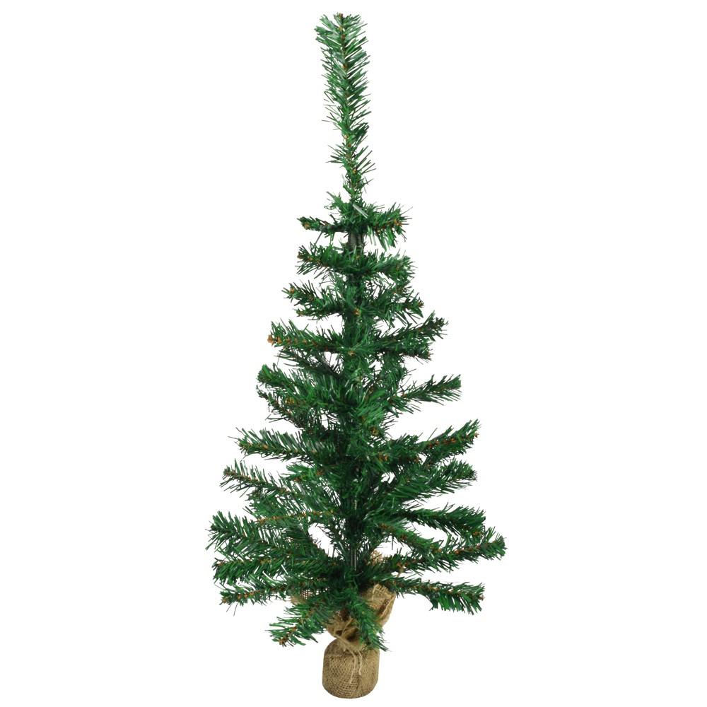 weihnachtsbaum mit jutesack 35 75cm k nstlich gr n. Black Bedroom Furniture Sets. Home Design Ideas